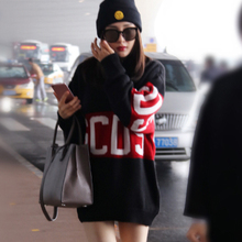 2017 high quality female infant pullover winter round collar easing into color long letters turtleneck sweater pull femme(China)