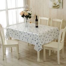 Elegant Hollw out Flower Print PVC Table Cloth Home  Table Decor Waterproof Table Cover Tablecloth 130X180CM,130X130CM