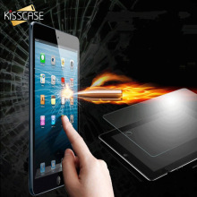 KISSCASE Tempered Glass Film For iPad Air iPad 2 3 4 5 Explosion Proof Clear Toughened Screen Protector For iPad Mini 1 2 3 4(China)