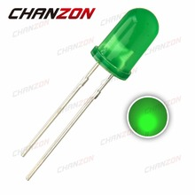 100pcs 5mm Green LED Lamp Light Diode Diffused Round Top Light-Emitting Diode 5 mm DIP Electronics Component Through Hole Angle