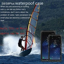 Super Powerful Water/Dirt/Shock/Snow Proof protection case Underwater daily dual  Bags For Sansung Galaxy S8 S8 plus case shell