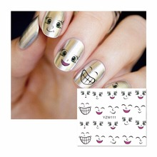 FWC Nail Sticker Cartoon Water Adhesive Foil Nail Art Decorations Tool Water Decals 3d Design Nail Sticker Makeup 111(China)