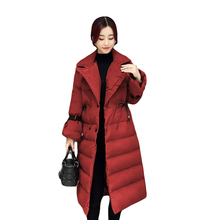 New style Winter Coat Cotton jacket Women Winter jacket Long Thick Stand collar High quality Eiderdown cotton Warm coat CM563