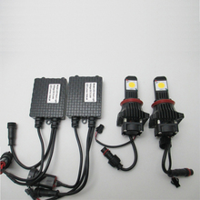 2pcs Cree LED Headlight H11 DC12V lamp High Quality 3600lm 50W LED Headlight Parking Car Styling DIY Auto Light 6000K