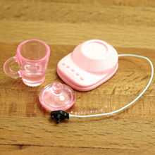 Dollhouse Miniature Toy 1:12 Kitchen A Plastic Pink Food Mixers H2.2cm SPO184(China)