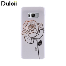 Dulcii for Samsung Galaxy S8 Cases Embossing Rhinestone Plastic Hard Case for Samsung Galaxy S8 G950 - Vivid Rose(China)