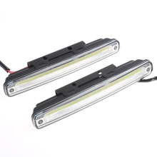 2 x 18cm COB LED Super White DRL Lamp Vehicle / Car Daytime Running Light With Installation Bracket Warning / Security Lamp(China)