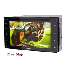 Universal 2Din In Dash Car gps autoradio double 2din DVD Player Radio Auto GPS/FM/USB/SD/Bluetooth/AM HD Capacitive touch screen