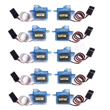 10pcs/lot Mini 3.7g Micro Servo RC plane Helicopter Boat Car Trex 250+Free shipping(China)
