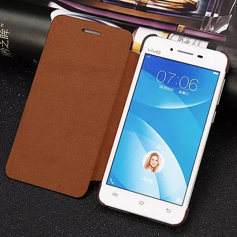"Flip Case for vivo Y35 Case Cover 5.0"" Flip Leather Phone Back Cover Housing Funda BBK for vivo Y35 Y33A Cell Phone Accessories(China (Mainland))"