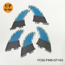 Surf FCS II Fin 3+2 Per Set G7+G3 and G5+G3 Honeycomb Carbon Fiber Fin Colors Available Surfboard Fin Free Shipping