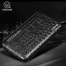 Buy USAMS Mosaic Ultra Slim 20000mAh Powerbank Mobile Phone Universal Portable charger Power Bank xiaomi battery bank for $29.74 in AliExpress store