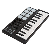 mini Portable Mini 25-Key USB Keyboard Controller and Drum Pad MIDI Controller