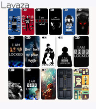 Lavaza 3106CA Popular Sherlocked Hard Transparent Case Cover for iPhone 7 7 plus 4 4s 5 5s 5c SE 6 6s Plus case cover