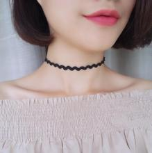 xl806 80's 90's fashion simple Gothic punk velvet geometric wavy necklace chain neck jewelry New Listing(China)