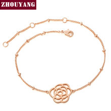Top Quality ZYH102 Concise Rose Rose Gold Color Bracelet Jewelry Austrian Crystals Wholesale(China)