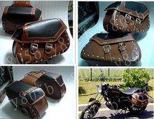 New Motorcycle Leather Side Bag Saddle Bags For Street Bike Dual Sport Bike Chopper Custom Cruisers Motorcycle Bike ATV
