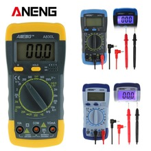 New A830L LCD digital multimeter DC AC Voltage Diode Freguency Multimeter Capacitance OHM Transisto Tester(China)