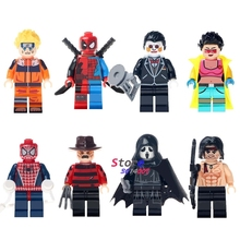 Single Super Heroes Halloween Freddy Krueger Horror Theme Movie Jubilee Uzumaki Rambo building blocks bricks toys for children