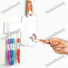 NEW Household  Automatic Auto Toothpaste Dispenser& Free Brush Holder