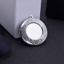 10Pcs 32mm Antique Silver Round Brass Diffuser Necklace Locket For Blank Pendant Photo Frame Jewelry Making Glass Cabochon(China)