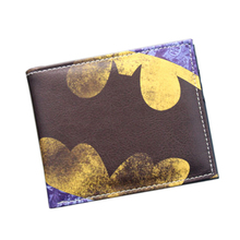 Vintage Designer DC Anime Wallet Cartoon Batman Bat Wallet 2 Fold Leather Wallet Slim Card Holder Bag Marvel Superhero Purse Boy