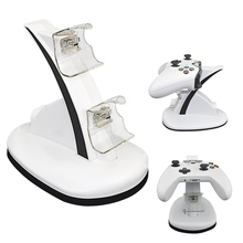 Besegad Dual Controller Joypad Gamepad Power Charging Station Charger Stand Holder for Microsoft Xbox One 1 XboxOne Slim Game(China)