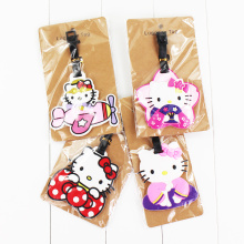 22Style Hello Kitty Cute Creative Silicone Luggage Tag Pendants Hang Tags Tourist Products Toy Travel Luggage Label 1pc