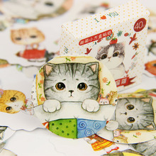 120PCS/lot Kawaii Mini Fat Cat Paper Sticker Set DIY Decoration Diary Scrapbooking Seal Sticker Office Stationery Supplie(China)