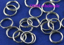 OMH wholesale 12mm 450pcs Jewelry accessories Finding DIY circle Nickel plating Plated Open Metal split Rings DY47-4(China)