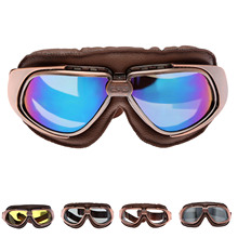 Vintage Motorcycle Goggles Smoking Steampunk Motocross Helmet Glasses UV Protection Sport Ski Skate Goggle Sunglasses For Harley(China)