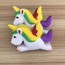 HOT Colorful Unicorn Squishy Toy Mobile Phone Straps Slow Rising Anti-stress Strap Cute Accessories Pendant Kids Gift