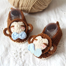 Booties Baby Crochet Shoes For Small Bootees Toddler Moccasins Scarpette Neonata Infant Girl Boy Shoes Polo Baby Items 503141(China)