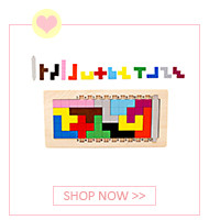 Colorful Wooden Tangram Tetris Game Brain Teaser Puzzle Toys Baby Preschool Magination Early Educational Kids Toy Children Gift 4