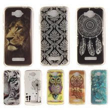 Cartoon Pattern Soft TPU Silicone Cases For Alcatel One Touch Pop C7 OT 7041D 7041 Soft TPU Back Cover Mobile Phone Bag