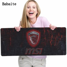 Babaite Hot sale Customized Durable msi Gaming Mouse Pads  keyboard Computer Gaming Mouse mat Gamer Play Mats Boy Gift Mouse Pad