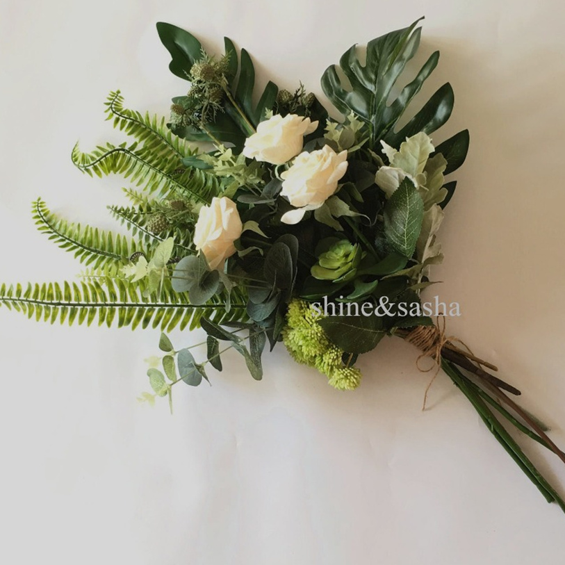 MIN-order-5-Mori-style-flower-bouquet-eucalyptus-rose-Hydrangea-Overlord-Monstera-Leaf-bouquet-wedding-spring