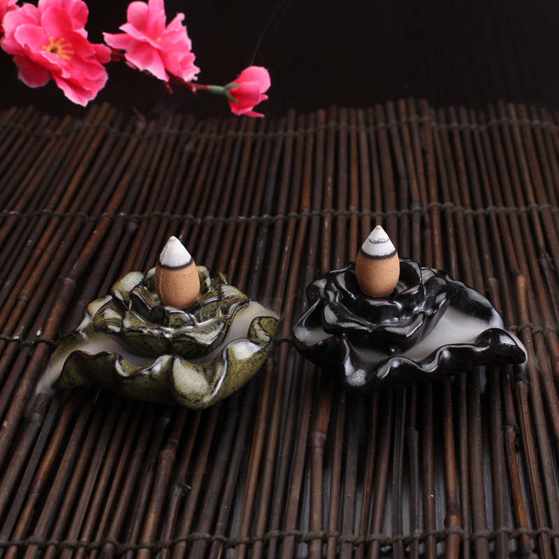 58pcs/Bottle Natural Backflow Incense Cone Grain Glass Bottle 11 Scents Tower India Sandalwood Incenses
