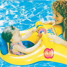 Hot Sale Outdoor Summer Lake Water Lounge Pool Double Kids Swimming Rings Float Pool Inflatable Donut Seat For Babys And Adults(China)