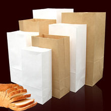 100pcs/lot-17*9*5cm Blank Kraft Paper Bags Sandwich Bread Food Takeout Bags Wedding Party Favour Gift Bags 7 sizes options