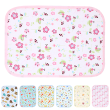 Waterproof Nappy Changing Pads Covers Baby Stroller Pram Bed Reusable Nappy Sheet Mat Cover Urine Pad Baby Accessories(China)