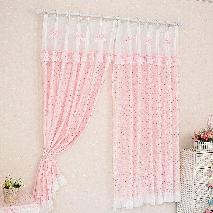 Pink valance curtains