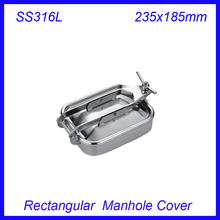235x185mm SS316L Stainless Steel Rectangular Manhole Cover Manway tank door way(China)
