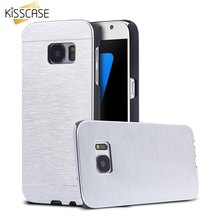 KISSCASE Luxury Aluminum Case For Samsung Galaxy S7 Edge S7 S6 Edge Plus Hard Cases Metal Brushed Back Cover For Galaxy S6 Edge(China)