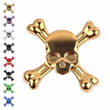Tepoinn Fidget Spinner Gold Skull EDC Hand Spinner with Ultra Fast Stainless Steel Bearing Small Size Anxiety Relief Relief Toys(China)