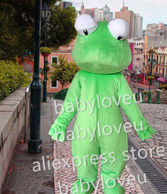 High Quality big eyes Lizard mascot fursuit pa frog Mascot Costume Carnival fancy Dress Adult Size
