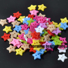 Mixed Star Resin Sewing Buttons for Scrapbooking craft Fashion Accessories 100pcs 12mm YKL0062x