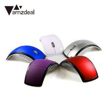 AMZDEAL Stylish Creative Wireless Mouse Computer Mice Foldable Receiver 2.4Ghz Optical Laptop Tablets office Home Supply(China)