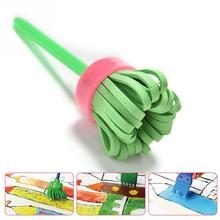 High quality 4Pcs/Set Children Painting Brush Rotary Mop Flower Stamp Kids DIY Graffiti Drawing Toy Kit Painting Tool(China)