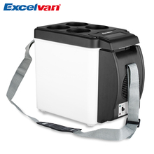 Excelvan 12V 6L Mini Car Refrigerator Portable Multi-Function Auto Car Travel Fridge Quality ABS Home Cooler Freezer Warmer